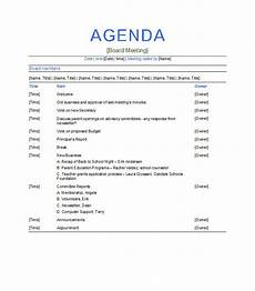 Word Template Agenda 51 Effective Meeting Agenda Templates Free Template