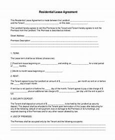 Downloadable Residential Lease Agreement Free 9 Sample Printable Lease Agreement Forms In Pdf Ms