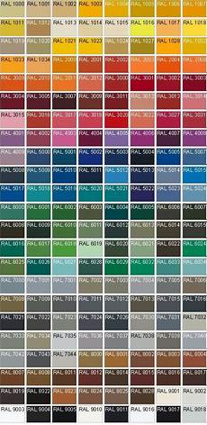 Color Codes With Images Ral Colours Ral Colour Chart