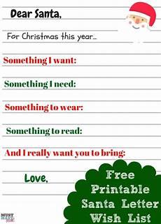 Christmas List Maker Printable Free Printable Christmas List Template For Kids World Of