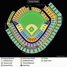 Minute Park Detailed Seating Chart Suntrust Park Seating Chart View Di 2020