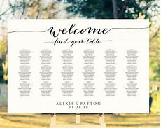 Wedding Seating Chart Poster Size Welcome Wedding Seating Chart Template In Four Sizes