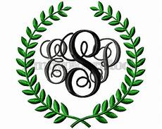 9 sizes machine embroidery laurel frame design monogram