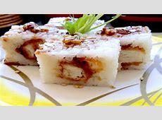 Chicken Katsu Sushi Cake Recipe with Sauce   YouTube