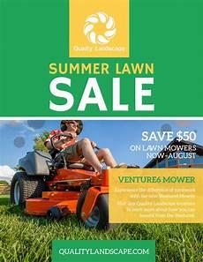 Lawn Mower Flyers Lawn Mower Summer Offer Flyer Template Mycreativeshop