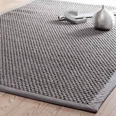 tappeti in polipropilene tappeto intrecciato grigio in sisal 140 x 200 cm bastide