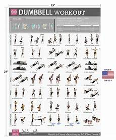 Weight Lifting Exercise Chart Dumbbell Exercises Workout Poster Now Laminated
