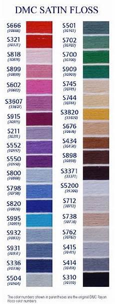 Dmc Rayon Floss Color Chart Gitta S Dmc Satin Amp Linen Floss