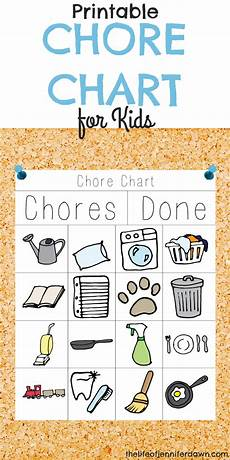Chore List For Kids The Life Of Dawn Printable Chore Chart For Kids