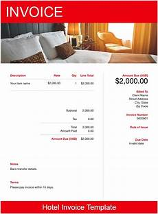Accommodation Invoice Template Hotel Invoice Template Free Download Send In Minutes
