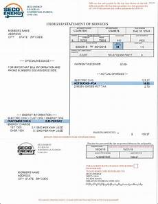 Sample Bill For Services Bill Example Seco Energy