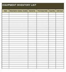 Inventory Form Excel 20 Free Equipment Inventory List Templates Ms Office