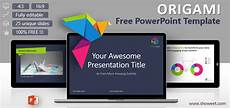 Free Creative Powerpoint Templates Origami Creative Powerpoint Template