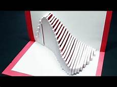 pop up card template how to make a wave pop up card free template kirigami