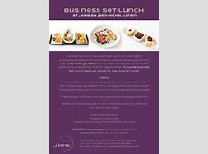 Business Lunch at J?AIME by Jean Michel Lorain