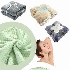 new bed blanket soft warm mesh flannel popcorn throws