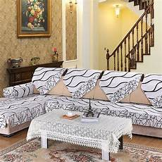 White Sofa Cover 3d Image by 1 Pc Europe Striped Quilted Sofa Cover Armrest Slipcover