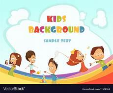 Children Playing Background Playing Kids Background Royalty Free Vector Image