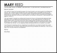 Counselor Cover Letter Samples Mental Health Counselor Cover Letter Sample Cover Letter