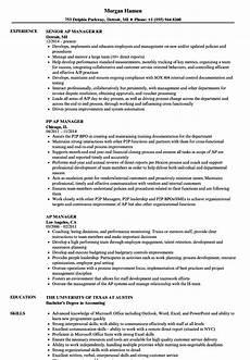 Accounts Payable Manager Resume Accounts Payable Manager Resume Free Resume Templates