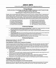 Sample Resume In Pdf Sample Project Management Resume 8 Examples In Pdf Word