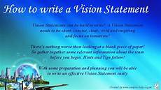 How To Write A Career Vision Statement How To Write Team Vision Statements Youtube
