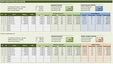 Credit Card Payment Plan Calculator Debt Reduction Calculator 187 Exceltemplate Net
