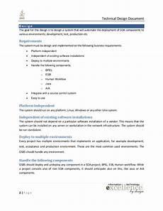 Application Design Document Sample Java Technical Design Document