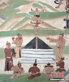 photos of ancient frescos of children unveiled on wechat
