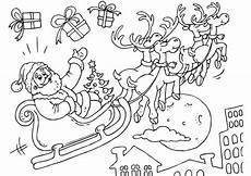 Malvorlage Weihnachtsmann Schlitten Malvorlage Weihnachtsmann Und Schlitten Kostenlose
