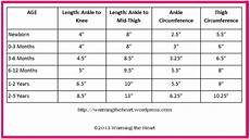 Baby Average Length Chart Leg Warmer Sizing Chart