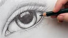 Drawing With Pencil Realistic Eye Step By Step Pencil Drawing On Paper For