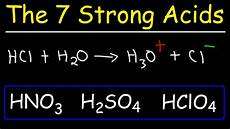 Strong Acid Chart How To Memorize The Strong Acids And Strong Bases Youtube