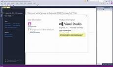 Visual Studio 2013 For Web Download Microsoft Visual Studio Express For Web Free Download