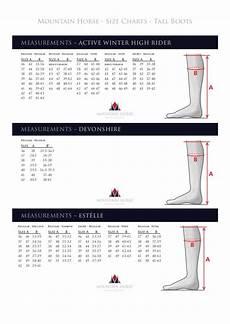 Mountain Horse Boots Size Chart Tabla De Medidas Botas Mountain Horse