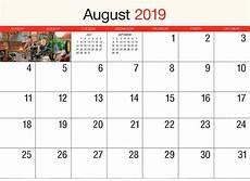 Printable Calendar August August 2019 Calendar Uk Blank Template Free Download