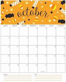 October Calendar Cute October 2019 Calendar Printable Template Catchy