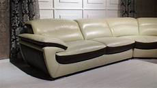 Two Tone Sofa 3d Image by Miracle Contemporary Two Tone Leather Sectional Sofa