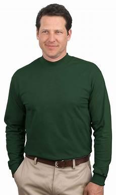mens mock neck sleeve shirts port company by hanes mens new 100 cotton sleeve