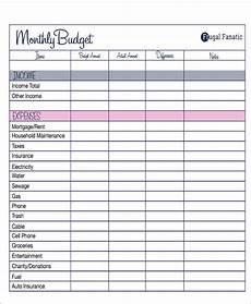 Budget Form Free 33 Budget Forms In Pdf Ms Word Excel