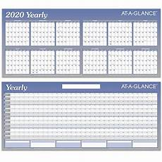 at a glance calendar 2020 2020 yearly a177 at a glance dry erase wall calendar 26 x