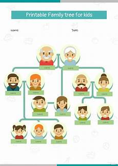 Family Template Printable Family Tree For Kids Template In Microsoft Word