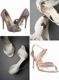 Designer Shoes With Feathers Head Over Heels For Feathers Green Wedding Shoes