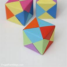 Paper Cube How To Fold Origami Paper Cubes Frugal Fun For Boys And