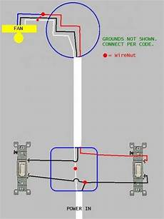 European Light Switch Wiring Convert Separately Switched Light Fixture And Fan To One