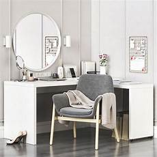3d ikea malm corner dressing table and workplace