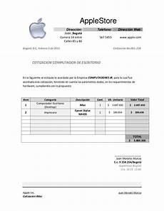 Formato Para Cotizacion En Word Cotizacion Apple Indicom