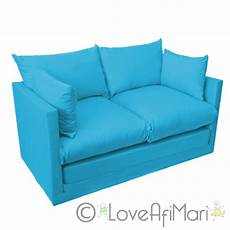 fold out 2 seater sofa sofabed guest bed futon