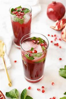 holiday pomegranate mojito mocktail the butter half