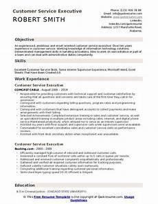 Resume For Customer Service Executive Customer Service Executive Resume Samples Qwikresume